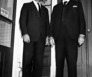 Lord Beaverbrook, right, and his son, Sir Maxwell Aitken